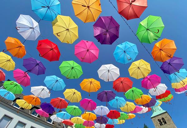bunte Schirme in Dorsten