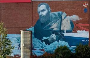 Streetart zu Polarforschung in Bremerhaven